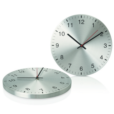 Wall Clock 30cm Aluminium (C431_GL_DEC)