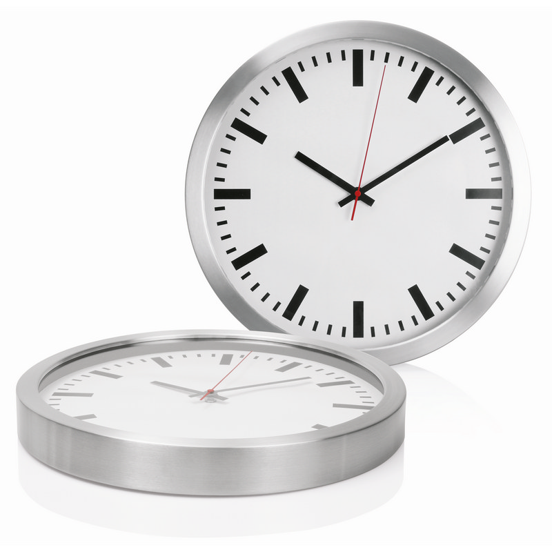Wall Clock 40cm Aluminium (C472_GL_DEC)