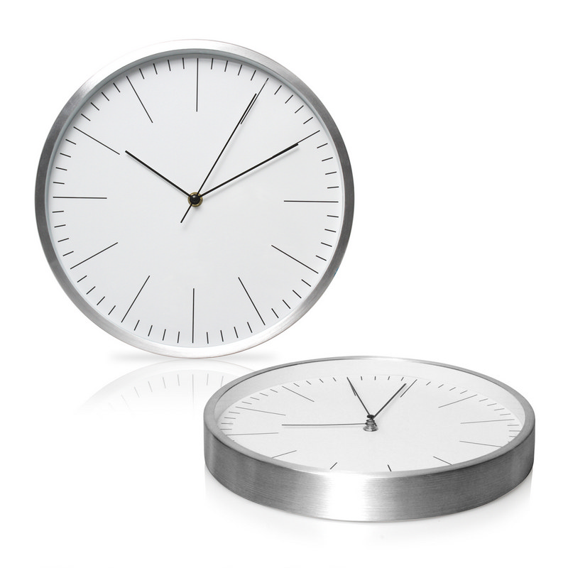 Wall Clock 30cm Aluminium (C493_GL_DEC)