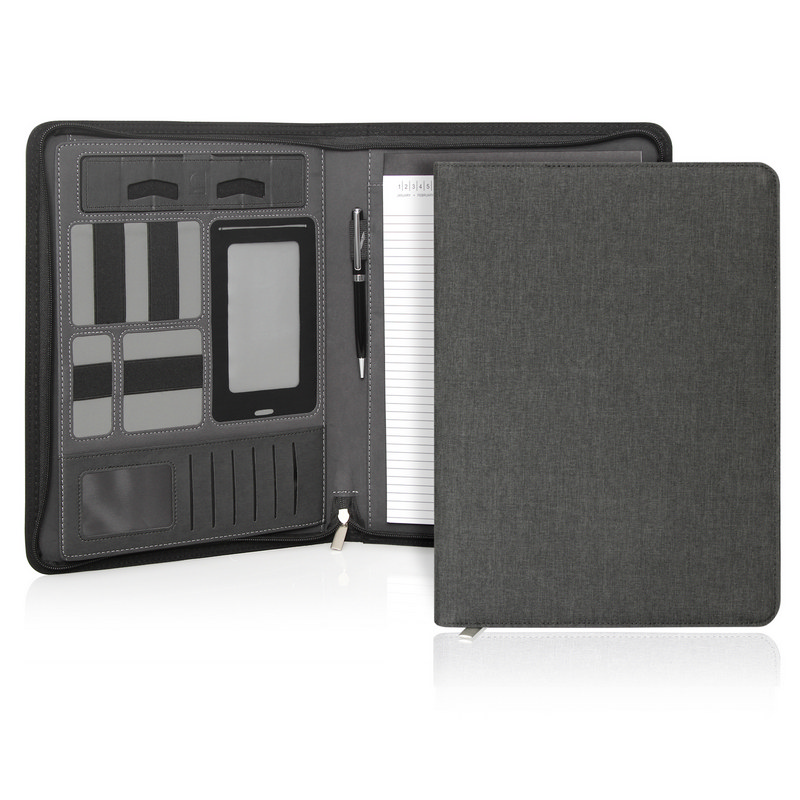 Ebony Executive Tech A4 Compendium wZipper (C511_GL_DEC)