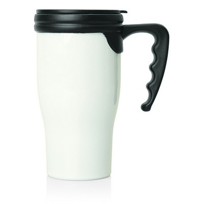 Travel Mug Plastic Double Wall 475ml (M229B_GL_DEC)