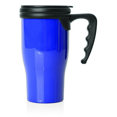 Travel Mug Plastic Double Wall 475ml (M229D_GL_DEC)