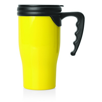 Double Wall Plastic Thermo Travel Mug (M229E_GL_DEC)