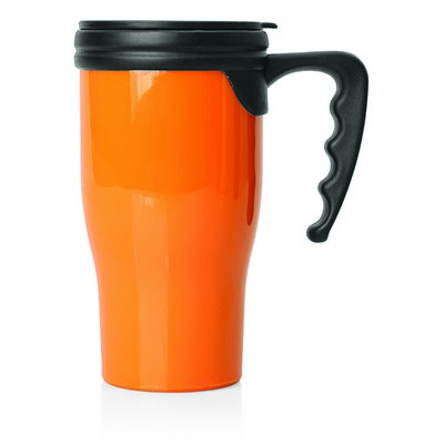 Travel Mug Plastic Double Wall 475ml (M229G_GL_DEC)