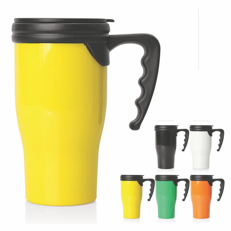 Travel Mug Plastic Double Wall 475ml (M229_GL_DEC)