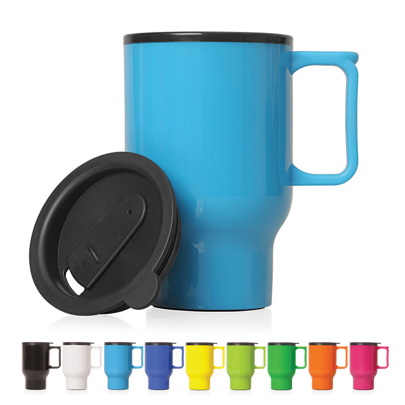 Travel Mug Plastic Double Wall 560ml (M248_GL_DEC)
