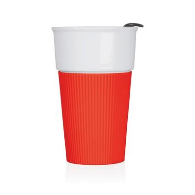 Eco Coffee Travel Mug Ceramic 370ml (M258C_GL_DEC)