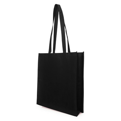 Bag Non Woven with Gusset (NWB05-BK_GL_DEC)