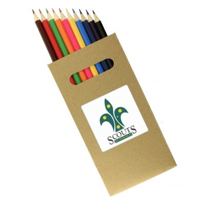 10 Pk Natural Wood Colouring Pencil - (printed with 1 colour(s)) - (Z402_GL_DEC)