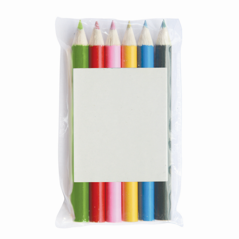 Pencils Colouring 6 Pack Pouch (Z603-6_GL_DEC)