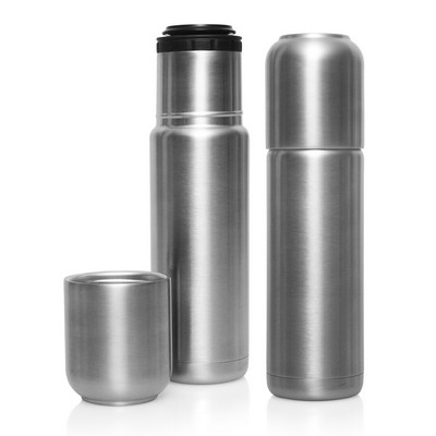 Thermo Flask Stainless Double Wall with Cup 520ml - (printed with 1 colour(s)) - (M278_GL_DEC)