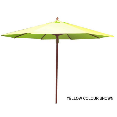 2.7m Tuscany Wood Look Market Umbrella, Polyester cover (SP9TWP_PER)