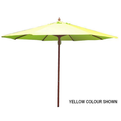 2.7m Tuscany Wood Look Market Umbrella, Acrylic Canvas cover (S9TWAC_PER)
