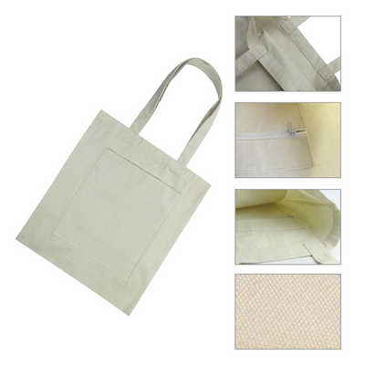 Cotton Tote Bag with Zippered Pouch (PC4562_PC)