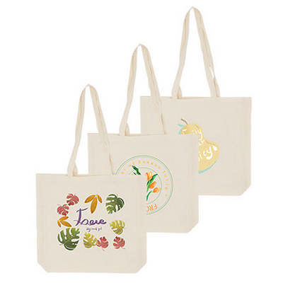170gsm Full Coloured Long Handle Calico Bag with Gusset (PCBC040_PC)