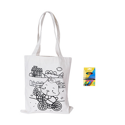 Large Colouring Bag with Crayons (PCBC105_PC)