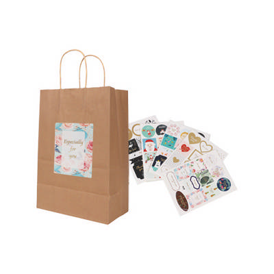 Twisted Handle Kraft Paper Bag (220x160x80mm) (PCPB010_PC)