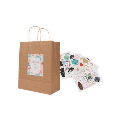 Twisted Handle Kraft Paper Bag(260x330x120mm) (PCPB012_PC)
