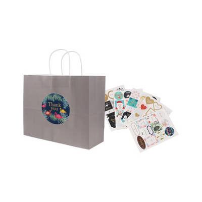 Twisted Handle Kraft Paper Bag(320x250x120mm) (PCPB013_PC)