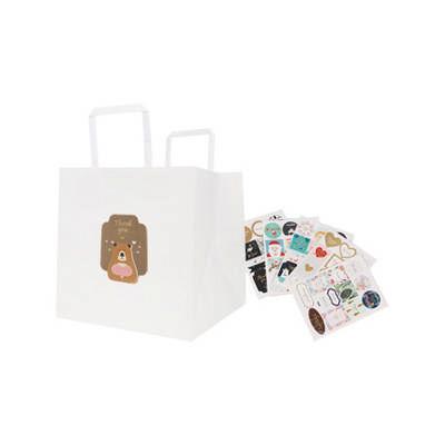 Flat Handle Kraft Paper Bag(250x250x250mm) (PCPB023_PC)