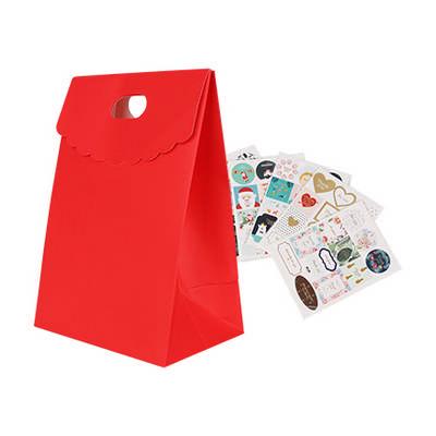 Die cut Handle Bag with Flap(150x220x100mm+80mm flap) (PCPB036_PC)