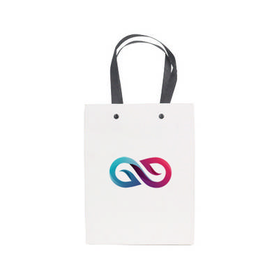 Small Vertical Paper Bag with Knitted Handle(170 x 220 x 100mm) (PCPB150_PC)