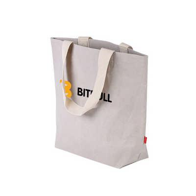 Large Washable Kraft Paper Bag with Cotton Handle(430x345x125mm) (PCPB185_PC)