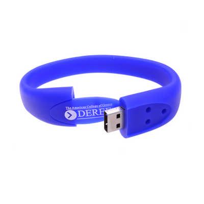 Oval Silicone Wristband Flash Drive  (PCU658_PC)