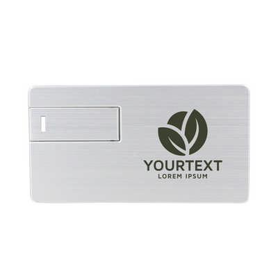 Large Alloy Card Shaped Flash Drive (PCU951_PC)