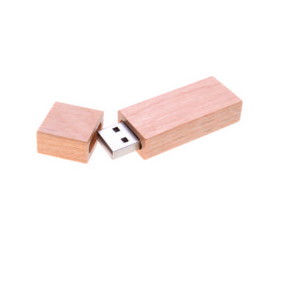 Rectangle Wooden Flash Drive (PCUW0_PC)
