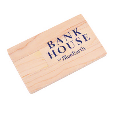 Wooden Credit Card Flash Drive (PCUW11_PC)