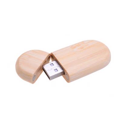 Oblong Wood Flash Drive  (PCUW2_PC)