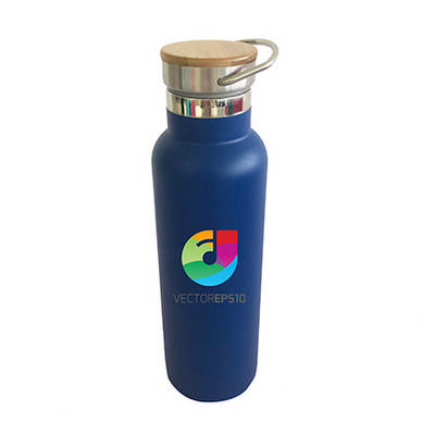 600ml Double Wall Vacuum Bottle with Bamboo Lid (PXD032_PC)