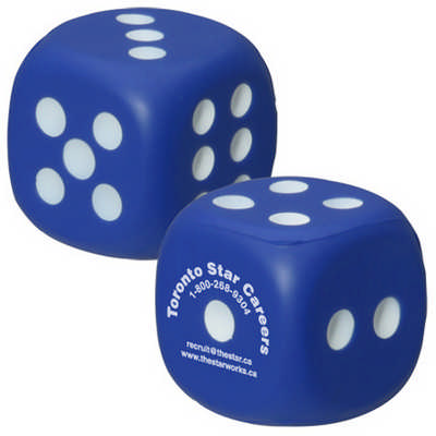 Dice Shape Stress Reliever (PXR154_PC)