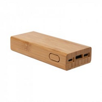 Luton Bamboo Power Bank - 10000 mAh (AR964_PROMOITS)
