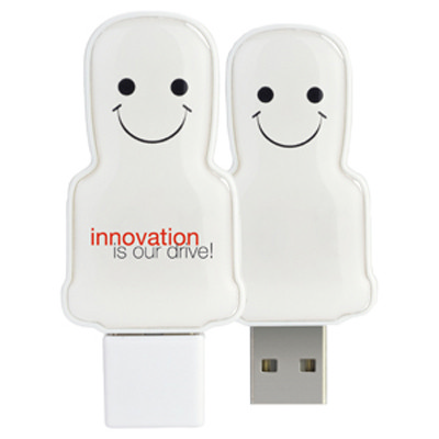 Mini USB People 8GB - White  (USM6109A-8GB_PROMOITS)