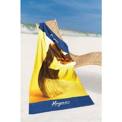 Indent Fiber Printed medium beach towel edge to edge print area (IP113_SIM)
