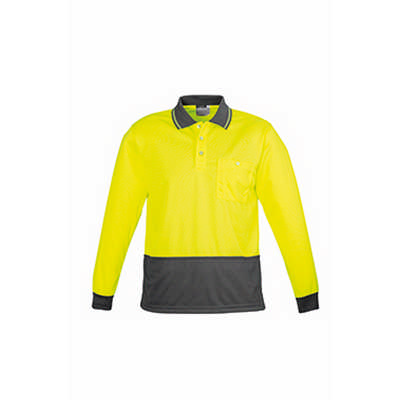 Mens Comfort Back LS Polo (ZH410_SYZM)