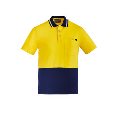 Mens Hi Vis Cotton SS Polo (ZH435_SYZM)