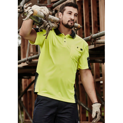 Mens Reinforced Hi Vis Squad SS Polo (ZH465_SYZM)