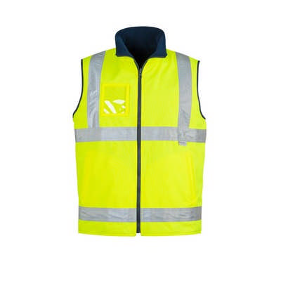 Mens Hi Vis Lightweight Fleece Lined Vest - (ZV358_SYZM)
