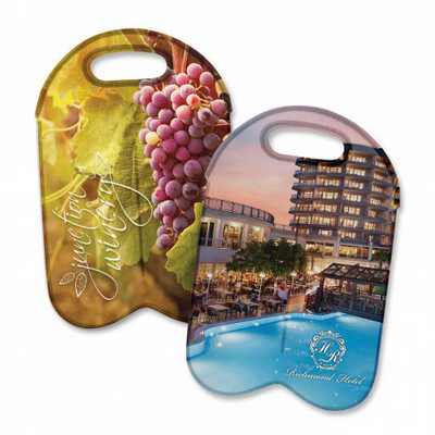 Neoprene Double Wine Cooler Bag - Full Colour (110499_TRDZ)