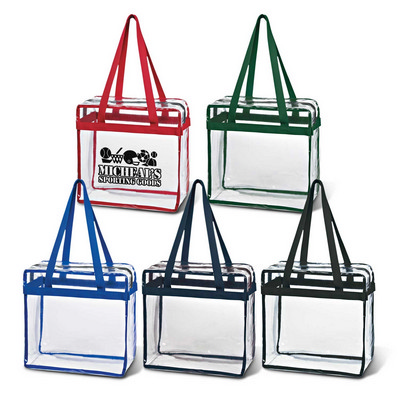 Clear Tote With Zipper (111386_TRDZ)