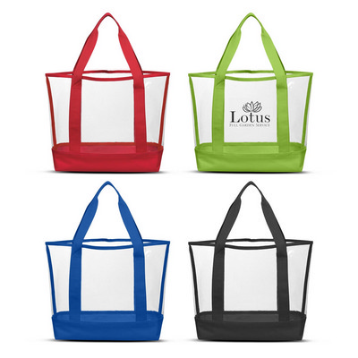 Clear Casual Tote Bag (111387_TRDZ)