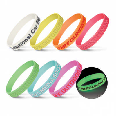 Silicone Wrist Band - Glow in the Dark (112807_TRDZ)