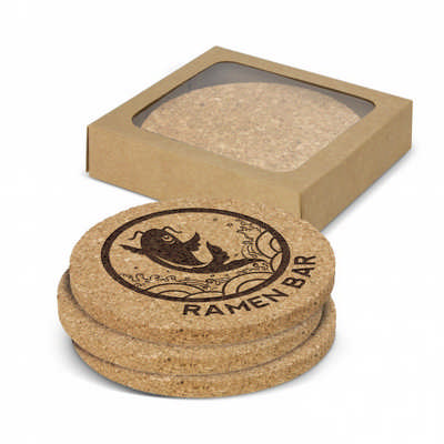 Oakridge Cork Coaster Round Set of 4 (113033_TRDZ)