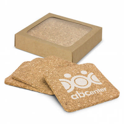 Oakridge Cork Coaster Square Set of 4 (113034_TRDZ)