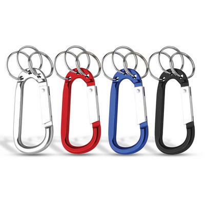 8mm Carabiner With Triple Split Ring (113476_TRDZ)