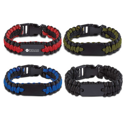 Paracord Bracelet With Metal Plate (113477_TRDZ)