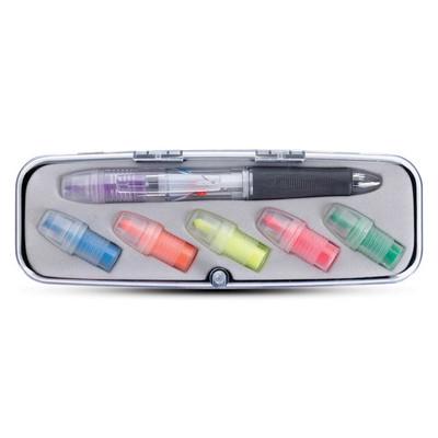 Tri-Color Pen and Highlighter Set (113522_TRDZ)